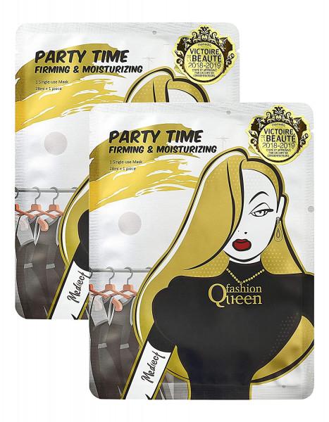 Mediect Party Time fashion Queen Gesichtsmaske, Feuchtigkeitsmaske zur Gesichtspflege, Beauty Mask m