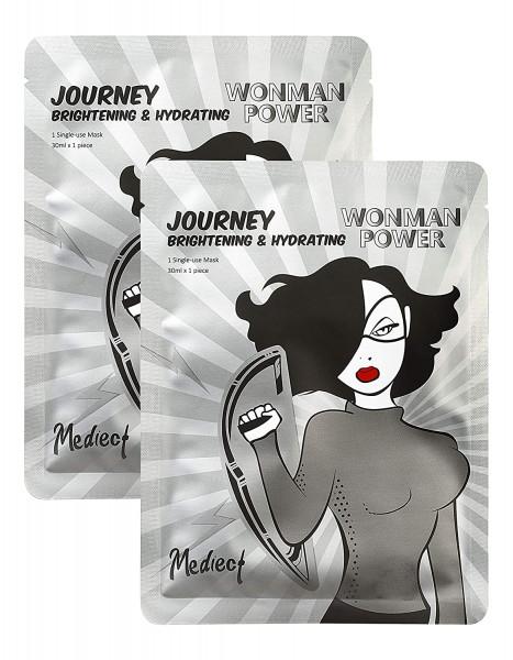 Mediect journey & hydrating Gesichtsmaske, Feuchtigkeitsmaske zur Gesichtspflege, Silbermaske mit Hy