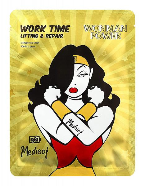 Mediect work time lifting Gesichtsmaske, Feuchtigkeitsmaske zur Gesichtspflege, Goldmaske mit Vitami