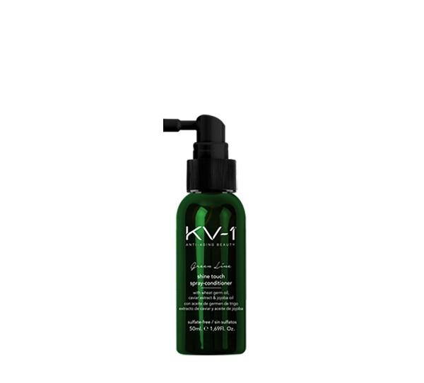 KV1 Green Line Shine Touch Spray Conditioner 50ml, Feuchtigkeitsspray ohne Ausspülen zum Entwirren d
